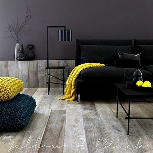 yellow and black (via Interiors / Trendspotting)