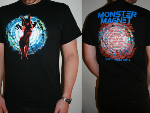 Pic of my Monster Magnet DOPES tour shirt design.