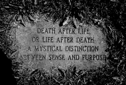affairemortal:  Death After LifeOr Life After DeathA Mystical DistinctionBetween Sense And Purpose.