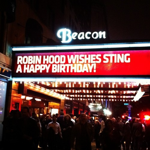 Robin Hood 2011 Moments: #7 - Best birthday party ever   To cap off an epic weekend of concerts, Robin Hood joined Lady Gaga, Billy Joel, Stevie Wonder and more to wish Sting a Happy 60th Birthday. He gave us the presents though, with an awesome concert to benefit our organization.
