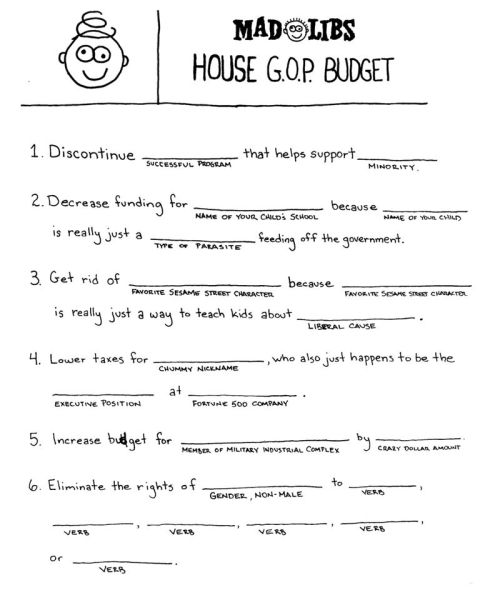 turtwigs: House G.O.P. Budget Mad Libs (x)
