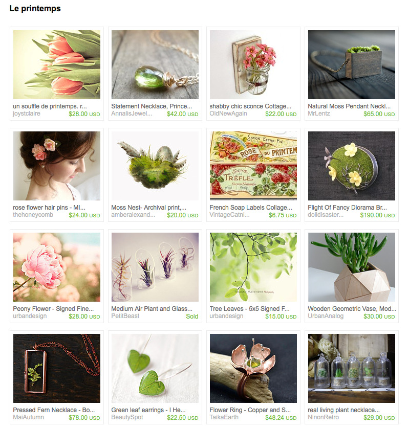 super pretty treasury on etsy