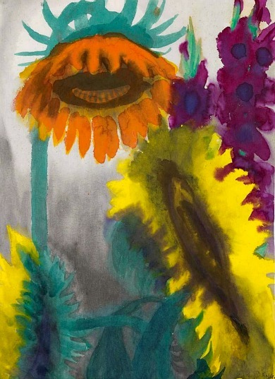 Emil Nolde Sunflower and Gladioli 1930