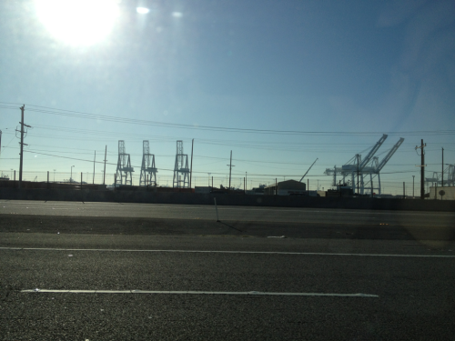 The Port of Oakland.   80 East.