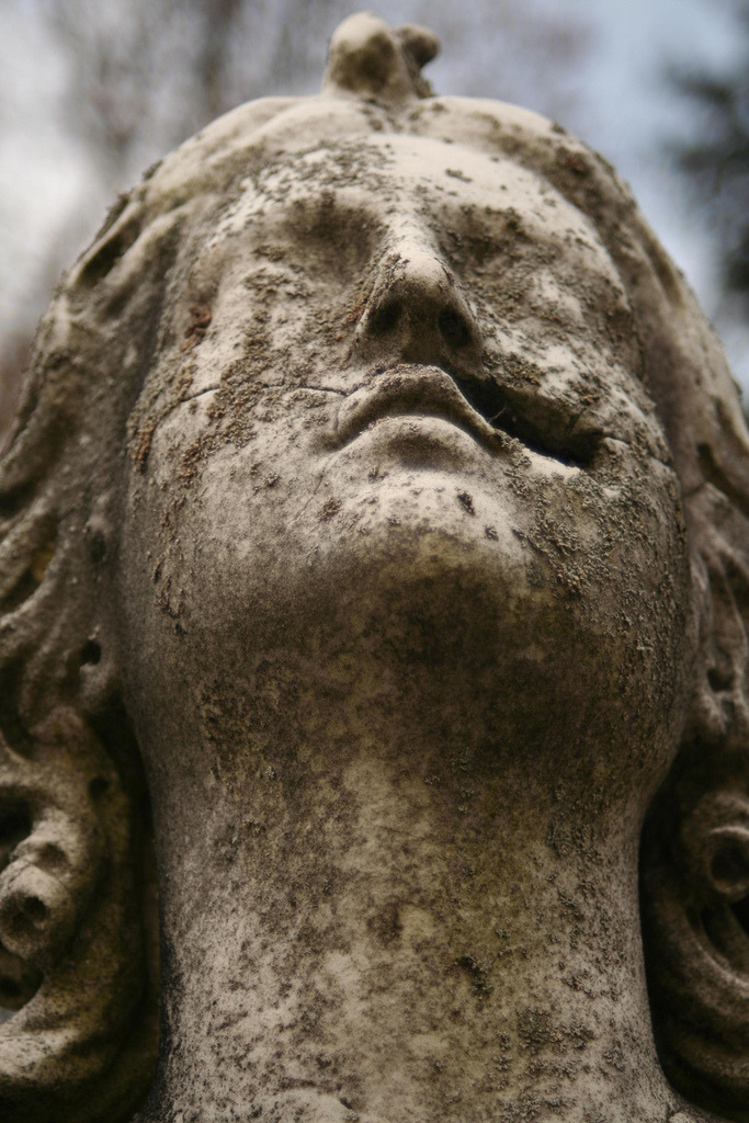 butisitartphoto:  Cracked Cemetery Statue, Sleepy Hollow