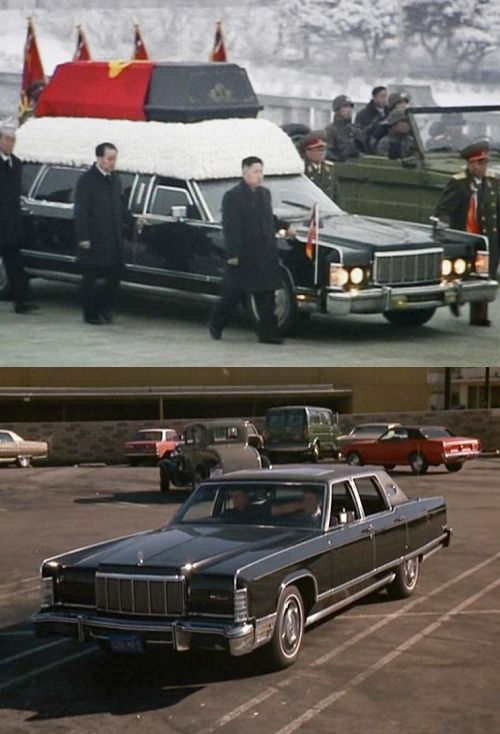 Was Kim Jong Il's hearse a souped-up '75 Lincoln Town Car? We're going with yes. Capitalism FTW.