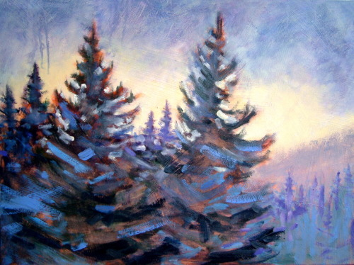 Every Moment of light & dark is a miracle. ~ Walt Whitman (painting by Holly Friesen)