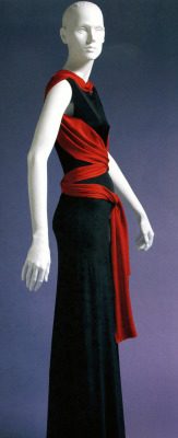 Wrap sash dress by Vionnet.  Long lean and clean.  Graphic dressing at its best