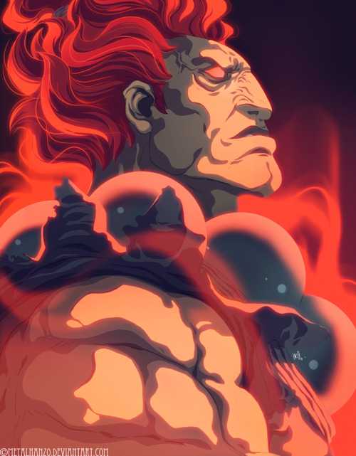 Akuma, one of the most bad ass Street Fighter characters, rises to the challenge in Hanzo Steinbach's new fan art illustration. Related Rampages: Bunny Link (More) Gouki by Hanzo Steinbach (Facebook) (Twitter)