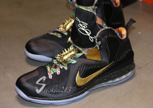"LeBron 9 exclusive ""Watch The Throne"" shoe. #teamlebron @kingjames"