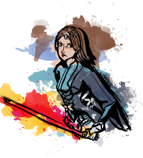 'nother thing for a friend… This is her SWTOR character, who I gather is a Sith! With a red lightsaber! Sweet!