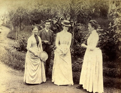 A day out. Candid image, late 1880s.