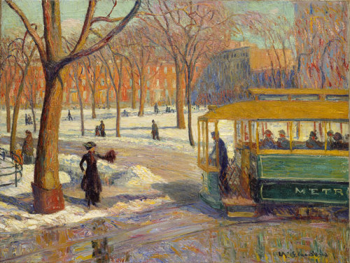 The Green Car by William Glackens (1910)