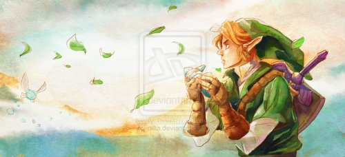 Things are nice and relaxing for Link and Navi…but for how long?  By: nillia