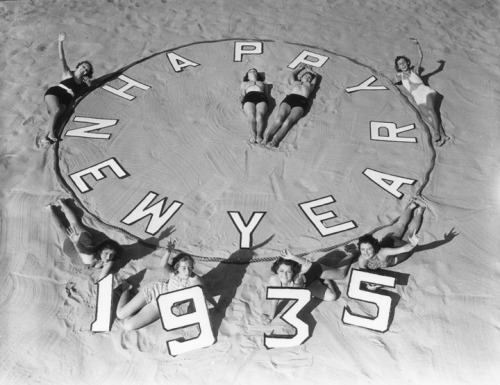New Years at Venice Beach, California - 1935