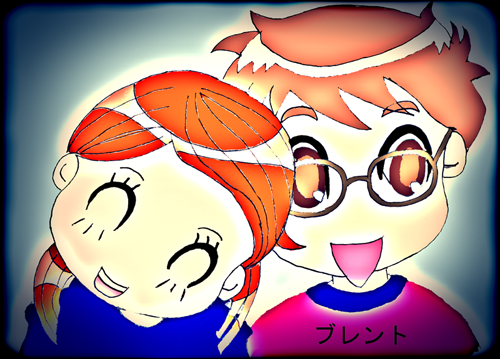 First attempt at manga. It is a chibi-fied portrait of my nephew and his girlfriend.