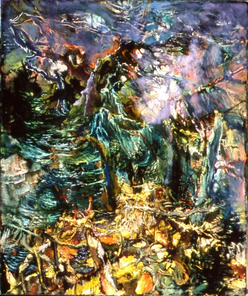 cavetocanvas:  Hyman Bloom, Fog in the Forest, c. 1985
