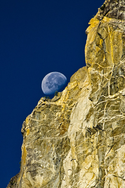 neiture:  Setting moon, Yosemite National Park | image by Massimo Squillace