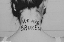 love broken tatoos Paramorre we are broken