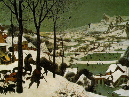 artandopinion:  The Hunters in the Snow 1565 Pieter Bruegel the Elder