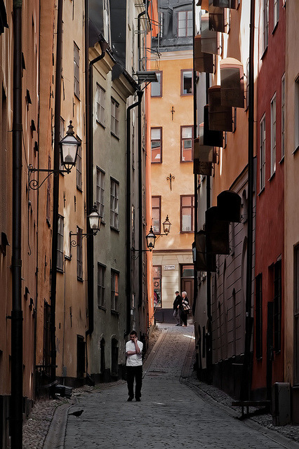 Street of Stockholm, Sweden by pas le matin on Flickr.