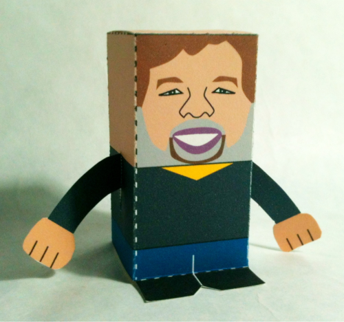 12.28.11 ~ 362/365 Toy-A-Day #211: Steve Wozniak template: http://toy-a-day.blogspot.com/2011_04_01_archive.html