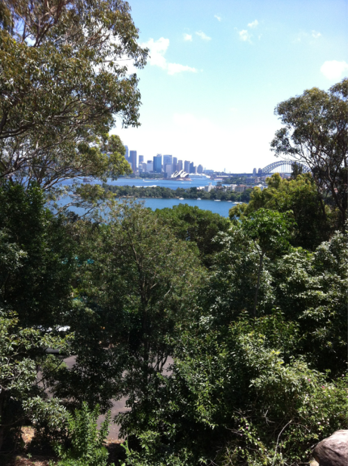 View of Sydney from the Taronga Zoo.