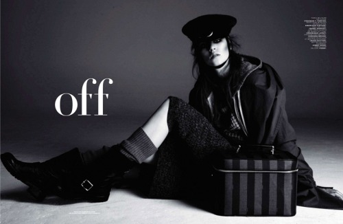 "Imogen Newton in ""Off"" Photographed by Damon Baker & Styled by Sebastien Cambos for Jalouse, September 2011"
