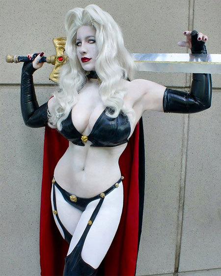geekpick:  Belle Chere cosplaying as Lady Death