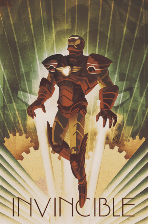 Artist Mike Del Mundo gave Iron Man a Deco styled 1920's set of armor in his variant cover for Amazing Spiderman #628. Check out more of his work here. Iron Man by Design Deco Works by Mike Del Mundo (deviantART) (Twitter) Via: deadlydelmundo
