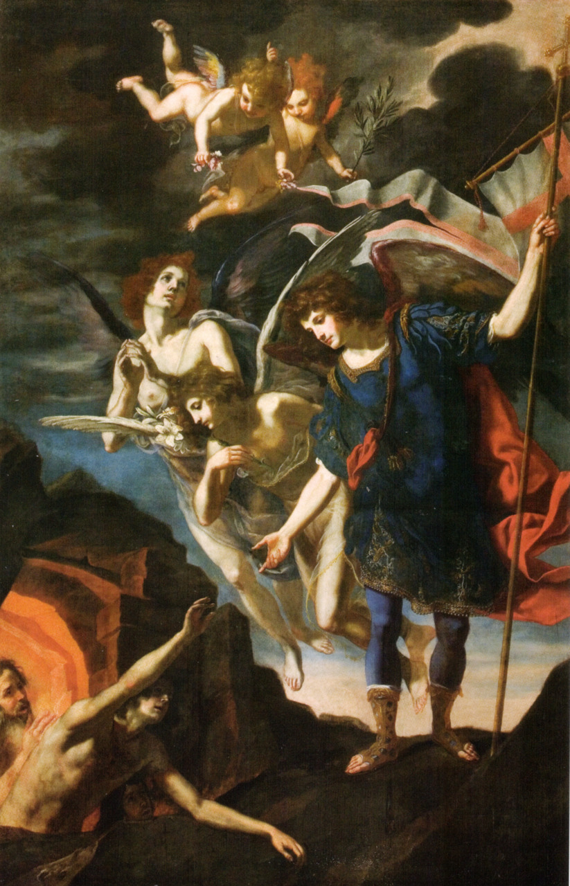 riderenmascarado1971:  Saint Michael saving souls from Purgatory - Jacopo Vignali