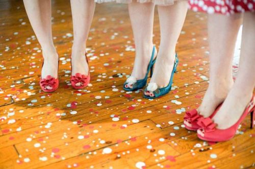 Confetti shoes!
