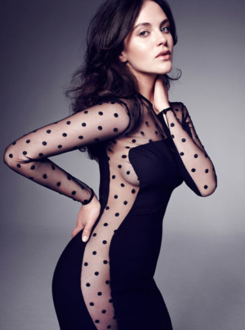 sui-generic:  suicideblonde:  Jessica Brown-Findlay photographed by Jonty Davies for Glamour UK, October 2011   [polka dots…]