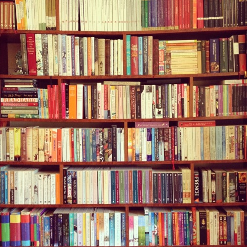 Books, glorious books. Every time I'm home I stare hungrily at my shelves, but I can't sufficiently indulge this time because I have an enormous amount of revision to tackle.