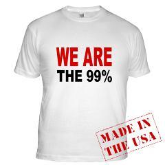 WE ARE THE 99 % Fitted T-Shirt Occupy Wall Street Merchandise (via WE ARE THE 99 % Fitted T-Shirt > WE ARE the 99 PERCENT > Occupy Wall Street Shop)
