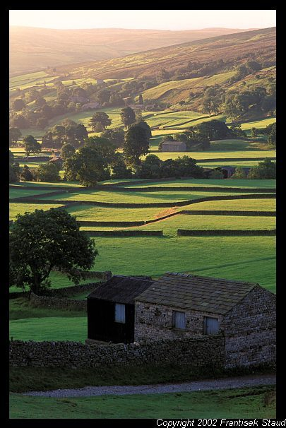 Stone barns in Yorkshire Dales, England