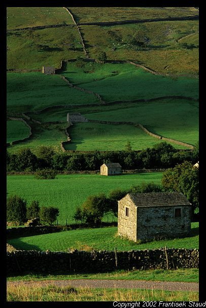 Stone barns in the hills above Muker village, Yorkshire Dales, again