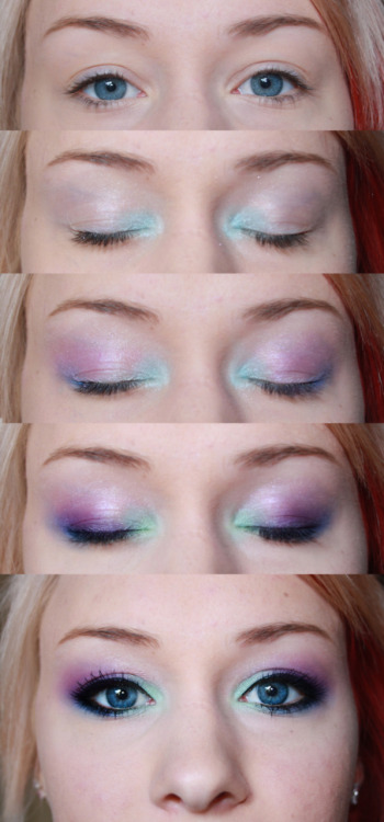 makeupftw:  Tutorial - cool colours makeup artist - taniajohanna.tumblr.com