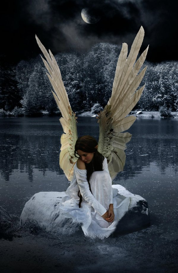 butterflyslut:  I was always a fallen angel … But He brushed my wings … Made me hold them high … I fly for Him …