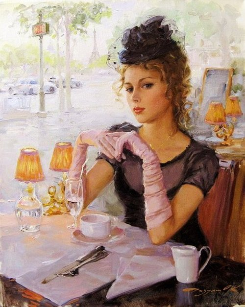 in-the-middle-of-a-daydream:  Painting by Konstantin Razumov