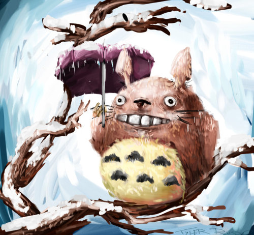 Winter Totoro by ~Posksas
