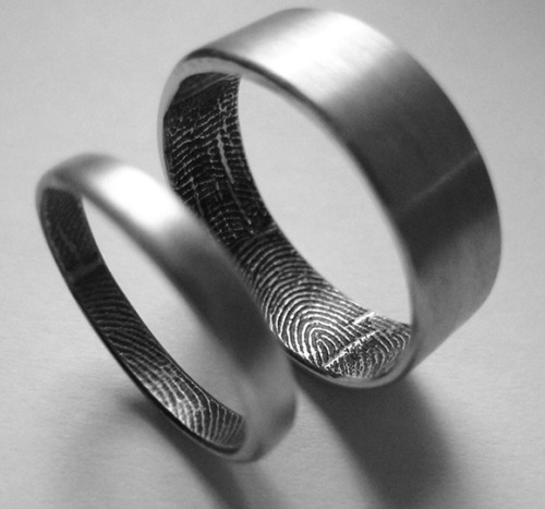 Custom wedding ring finger-print band ***** originality