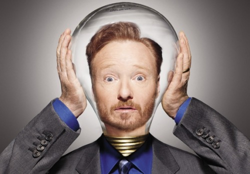 "Photo Issue 2011: Comedy writing has two main ingredients, Conan O'Brien says. Part one: left-brain bullshitting. Part two: seeing ideas up on their feet, in rehearsal, and then reworking them. ""Most Creative People: Conan O'Brien""  (June 2011) Photo By: Matthias Clamer"
