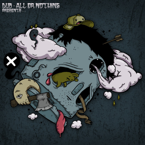Artwork for Dub-All Or Nothing.  http://www.facebook.com/crunchill