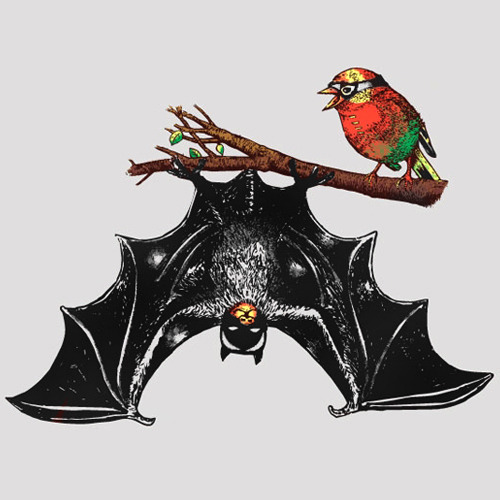 laughingsquid:  Bat & Rob by Dina Prasetyawan