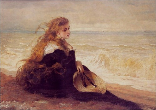 23silence:  George Elgar Hicks - On the seashore, 1879