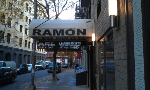 """Ramon's leather jackets - NYC"" - Submitted by migraine boy"