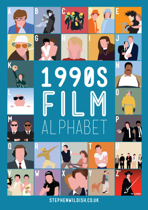 stephenwildish:  Friday Project - 1990s Film Alphabet