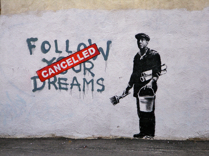 junkbowl:  Cancelled Dreams by Banksy