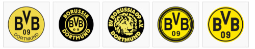 yessi-5:  BVB logos 1945-2011 I don't think I've ever seen the lion one…